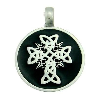 Pewter Pendant Celtic Cross