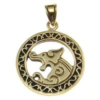 Bronze Pendant celtic dog