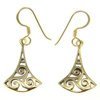 Bronze earring hook celtic