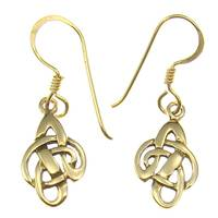 Bronze earring hook celtic knot