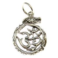 Silver Pendant Dragon with OM-Symbol