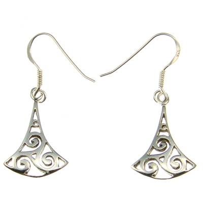 Triskel Silver Ear Hook (1 Pair)
