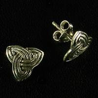 Celtic Silver Ear Stud (1 Pair)