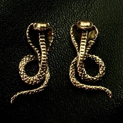 Bronze Ear stud cobra