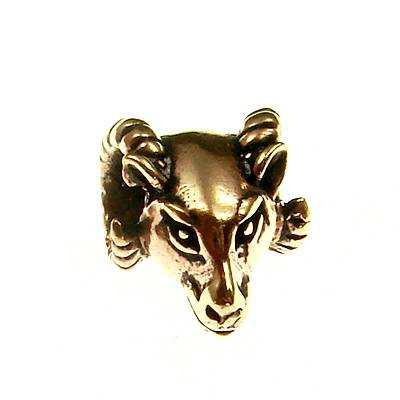 Bronze Pendant Bead Ram Head