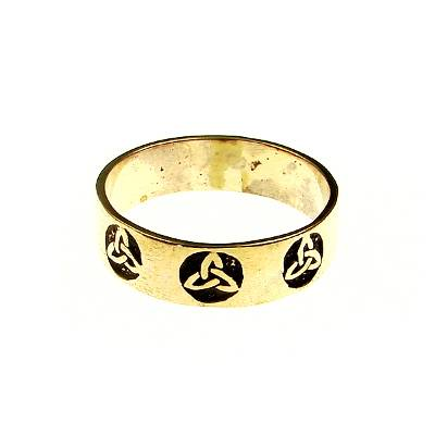 3 Triquettas bronze ring
