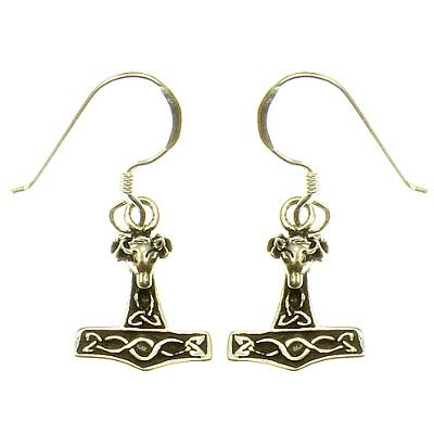 Thorshammer Silver Ear Hook (1 Pair)