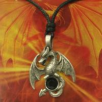 Pewter Pendant Dragon