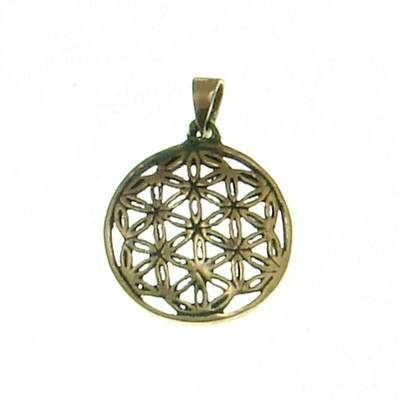 Bronzependant Flower of Life