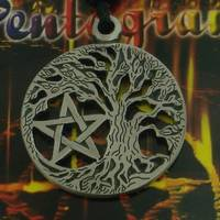 Pewter Pendant Tree of Life with Pentagram