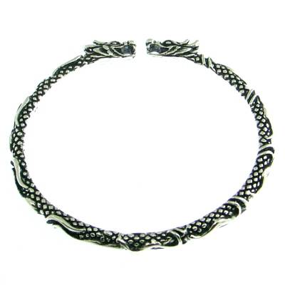 Silver Bangle Dragons