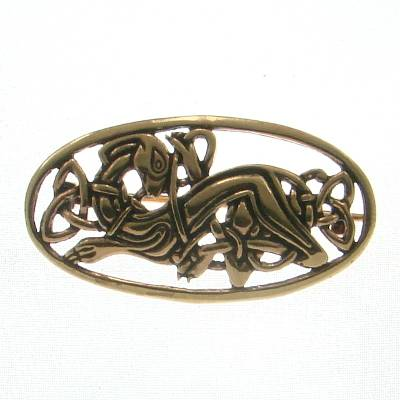 Bronze Brooch Celtic Dog