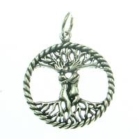 Silver Pendant Three of Life