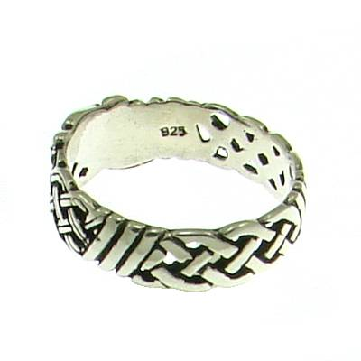 Silver Ring Celtic Hound