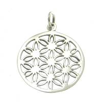 Silver Pendant Flower of Live