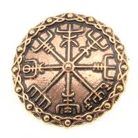 Bronze Brooch Viking Compass