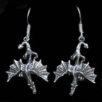 Dragon Silver Ear Hook (1 Pair)