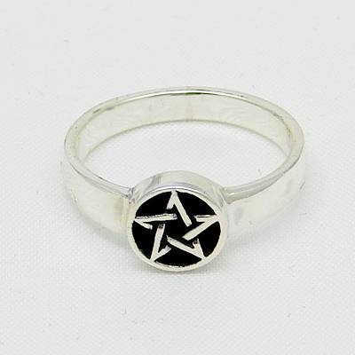 Pentacle Silver Ring