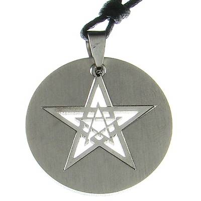 Stainless Steel Pendant Pentacles