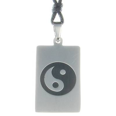 Stainless Steel Pendant Yin & Yang