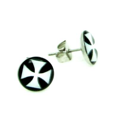 Stainless Steel Stud Iron Cross