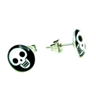 Stainless Steel Stud Earring Skull