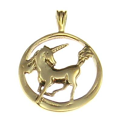 Bronze Pendant Unicorn